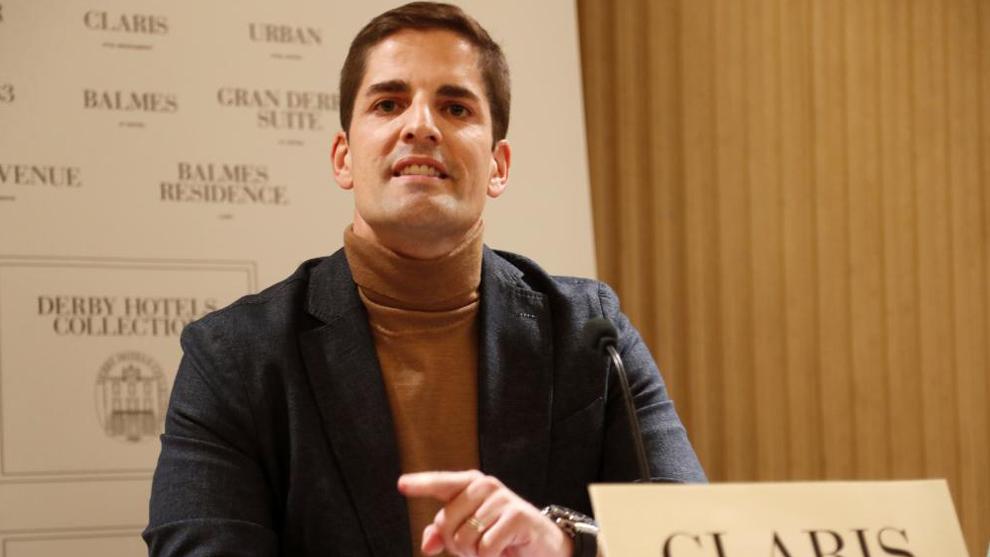 Robert Moreno, en su comparecencia en Barcelona