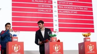 Imagen del sorteo de la primera eliminatoria de la Copa del Rey.