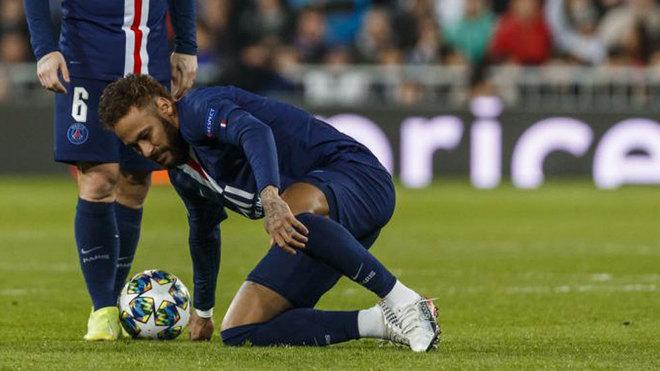 Neymar, durante el partido del Bernabéu.