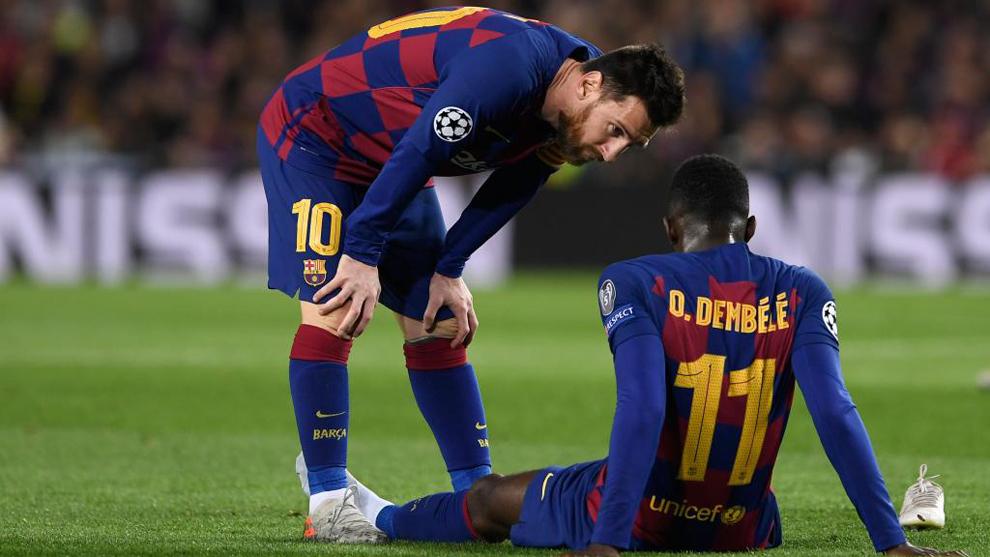 Dembélé volvió a sufrir una lesión muscular en el partido ante el...