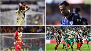 América, Santos, Morelia y Querétaro, por la remontada.