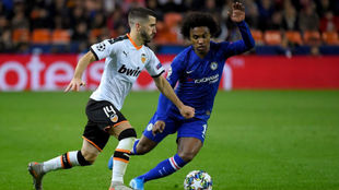 Willian, contra el Valencia.