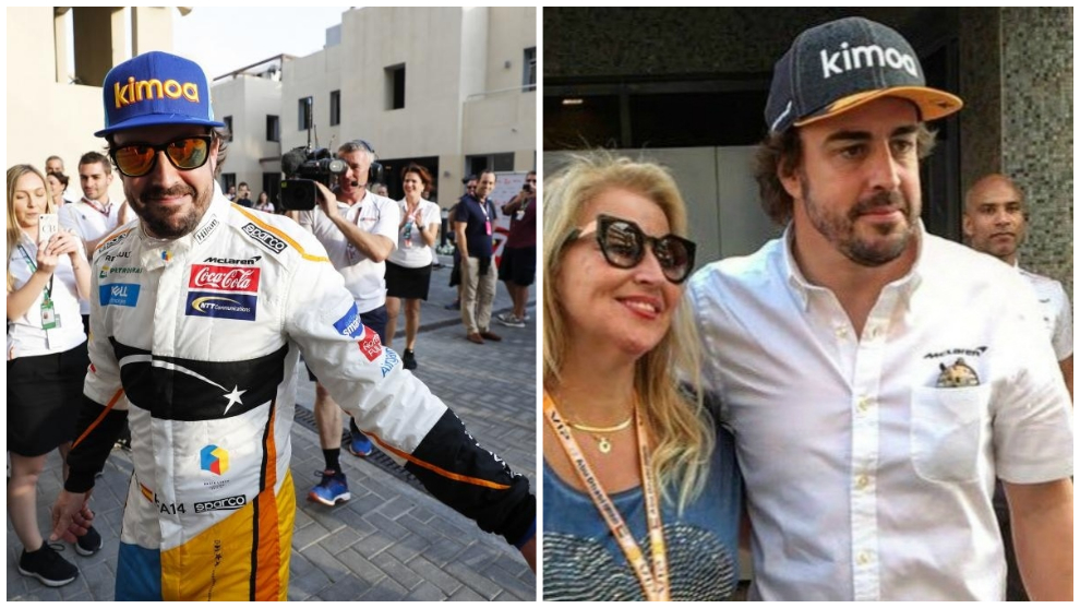 A la izquierda, Alonso en su última carrera, a la derecha, hoy.