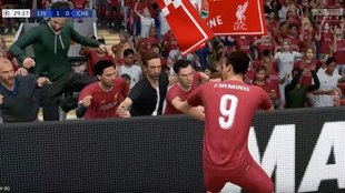 Imágenes de un juego fe FIFA 20.