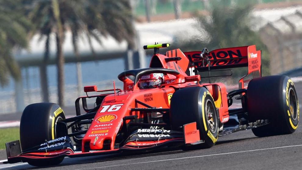 El Ferrari de Charles Leclerc.