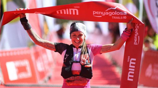 Azara García, tras ganar el MiM 2019 Penyagolosa Trails.