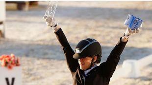 Natalia Quintana celebra su octavo Campeonato de España.