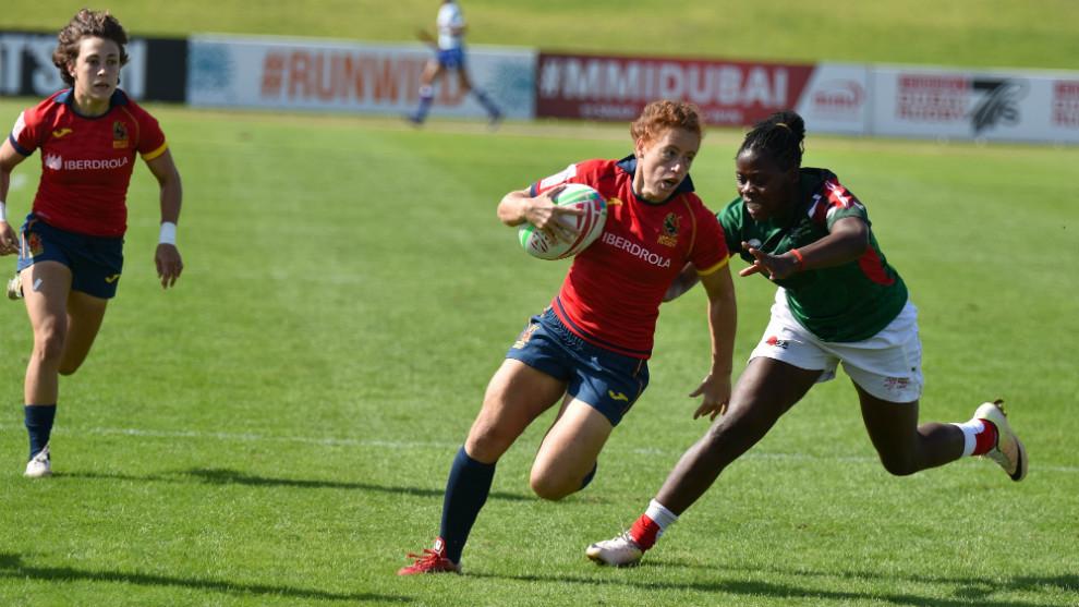 Bárbara Pla, en juego ante Sudáfrica en las Series Mundiales de...