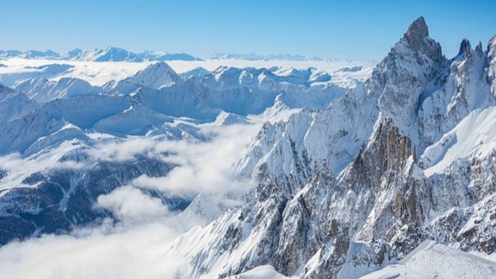 Una imagen de la cima italiana del Helbronner donde ha tenido lugar el...