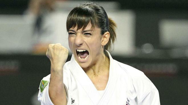 Sandra Sánchez, compitiendo en Madrid.