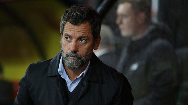 Quique Sánchez Flores, en un partido del Watford esta temporada.
