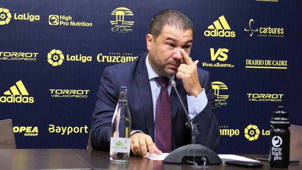 Rueda de prensa de despedida de Juan Carlos Cordero, exdirector...