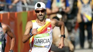 Jesús García Bragado, en competición durante los Juegos Olímpicos...