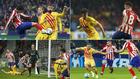 Piqué, Messi, Ter Stegen y Arthur, contra el Atlético