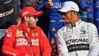 Sebastian Vettel y Lewis Hamilton.