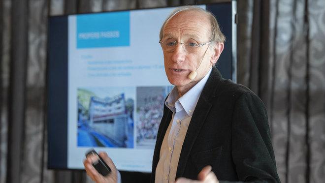 Conrad Blanch, durante una presentación.