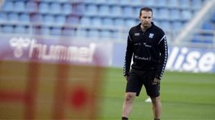 Rubén Baraja, durante un entrenamiento reciente del Tenerife