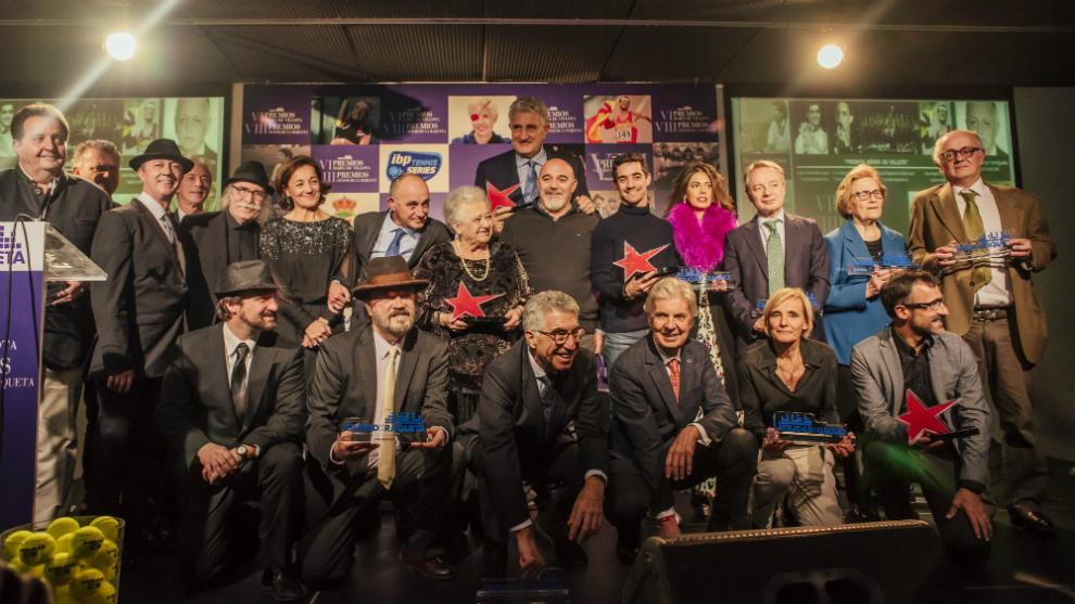 Foto de los galardonados en los Premios María de Villota y Ciudad de...