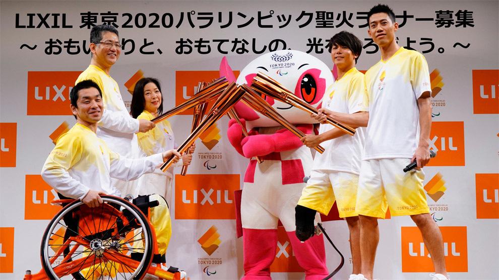 Nishikori en el acto de presentación rumbo a los Juegos Paralímpicos