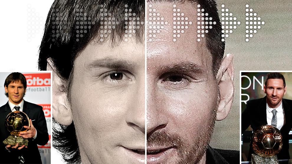 Del primero al sexto Balón de Oro: así ha cambiado Messi en 10 años