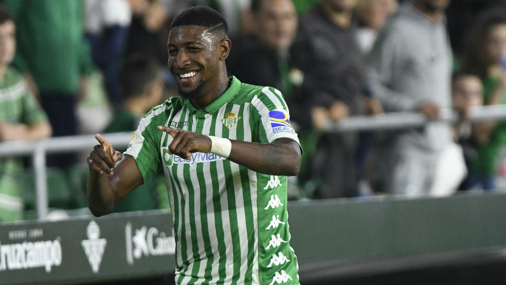 Emerson, celebrando un gol