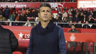 Lluís Martí, durante el partido frente al Tenerife en Montilivi.