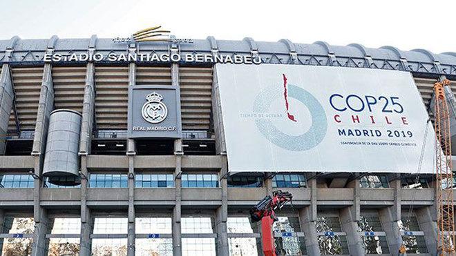 Imagen de la fachada principal del Santiago Bernabéu.