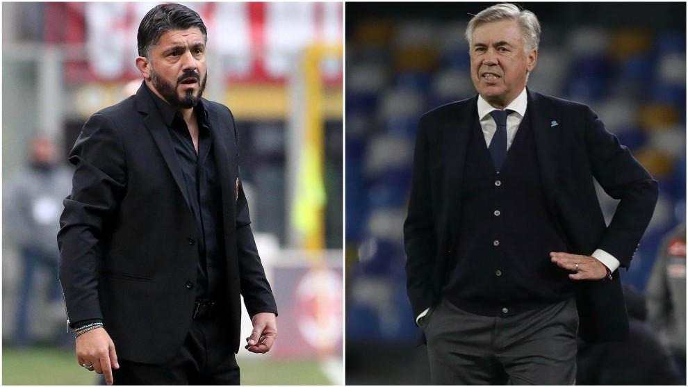 Gennaro Gattuso sería el sustituto de Carlo Ancelotti.