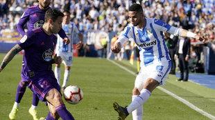 Partido entre el Leganés-Celta en Butarque por la pasada temporada.