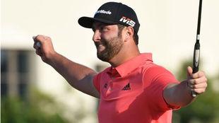 Jon Rahm tras ganar el DP en Dubai.