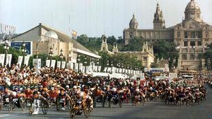 La prueba de maratón en los Juegos Paralímpicos de Barcelona 92.