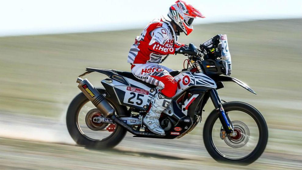 Oriol Mena, en el Rally Ruta de la Seda este año.