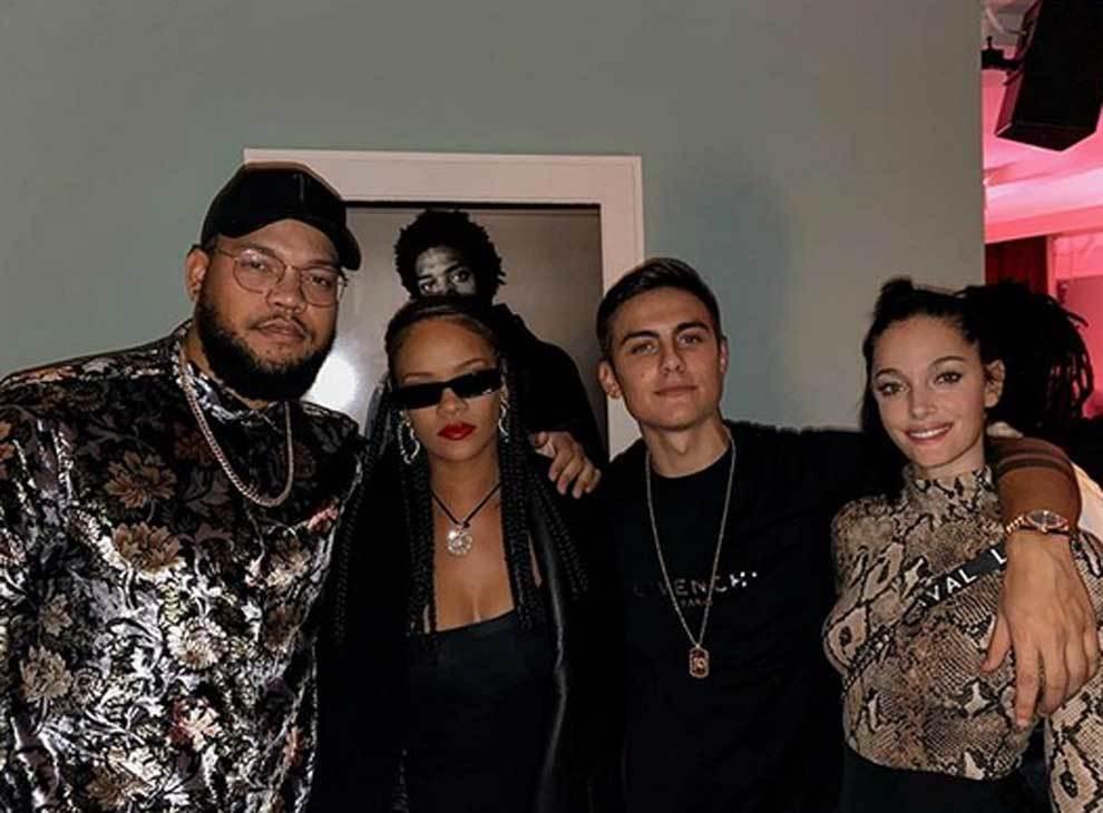 Rorrey Fenty, Rihanna, Paulo Dybala and Oriana Sabatini stay in...