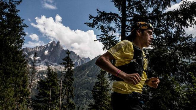 Pau Capell, en el Ultra Trail del Mont Blanc.