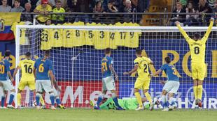 Gol de Mario Gaspar en el Villarreal-Atlético de la pasada temporada