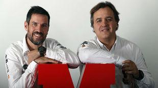 Diego Vallejo (copiloto) y Óscar Fuertes (piloto), los hombres de...
