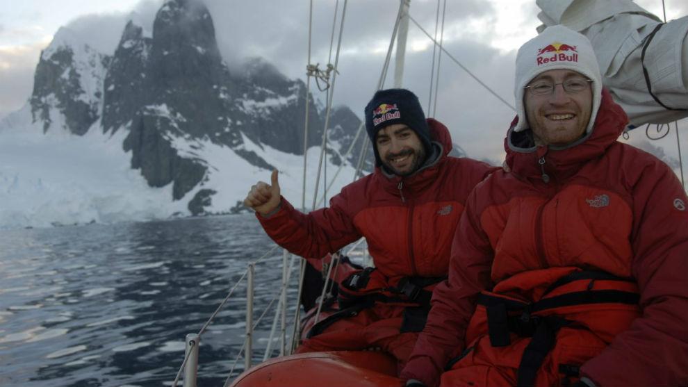 Iker y Eneko Pou, en la Antártida.