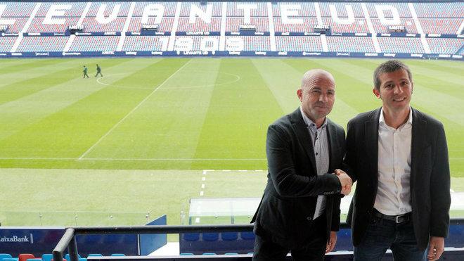Paco López y Albert Celades en el Ciutat.