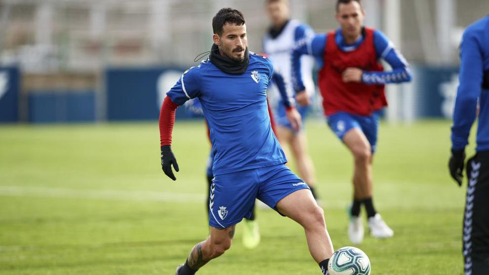 Rubén García en un entrenamiento