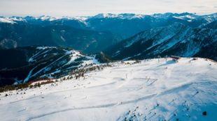 Vista aérea de la estación
