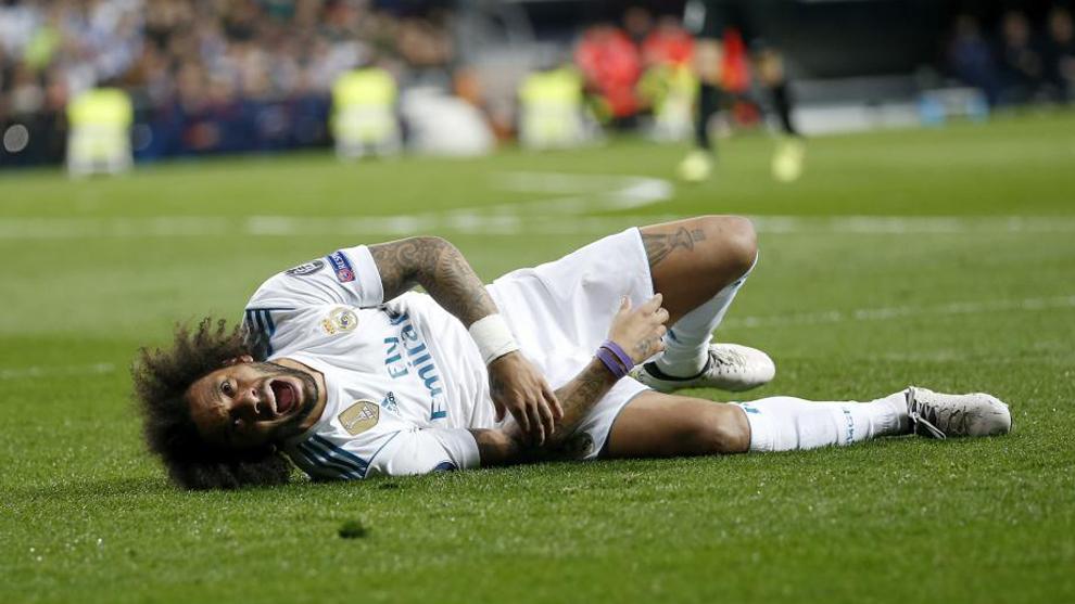 Marcelo sufre una lesión el sóleo y es incluso duda para el Clásico del 18.