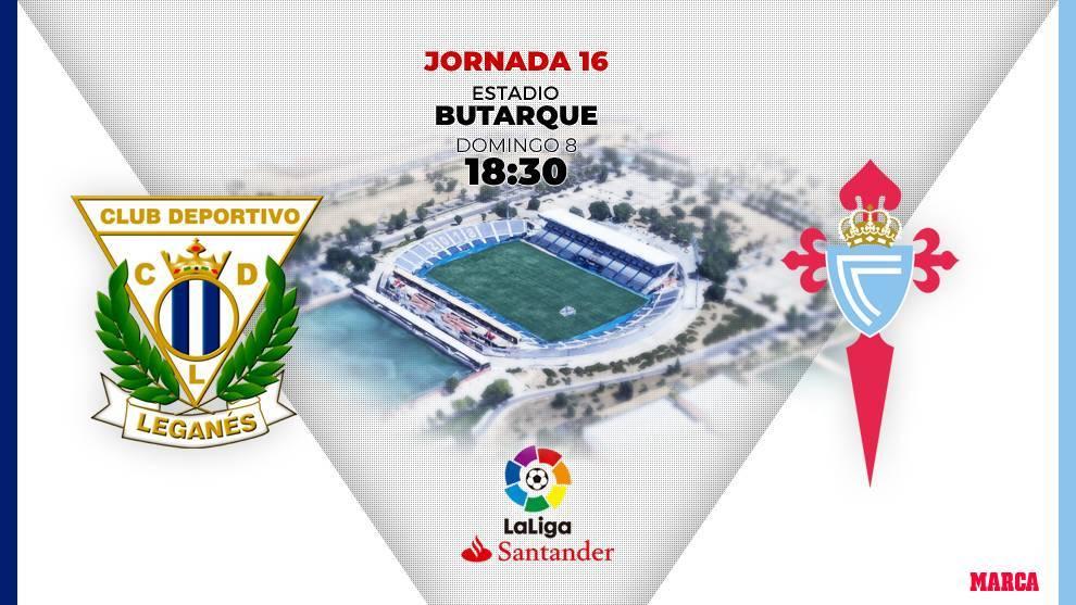 Leganés - Celta: horario y dónde ver por television hoy el partido...