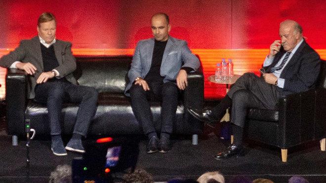 Koeman, Roberto Martínez y Del Bosque.