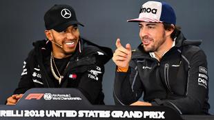 Lewis Hamilton y Fernando Alonso.