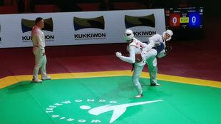 Briseida Acosta vs Shuyinn Zheng en el GP Final de Taekwondo de Moscú