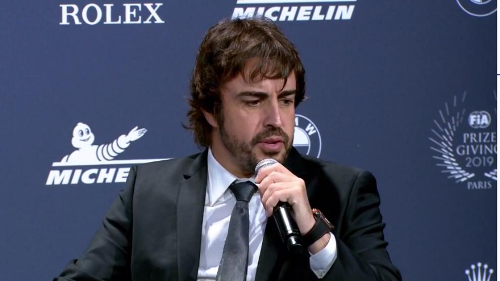 Fernando Alonso, en París.