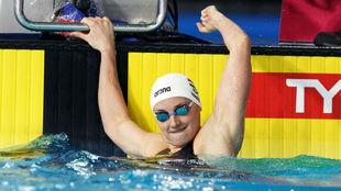 Katinka Hosszu celebra una de sus victorias en la tercera jornada