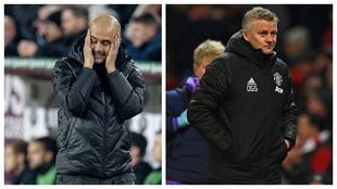Guardiola y Solskjaer, técnicos de City y United
