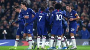 Jugadores del Chelsea en un partido