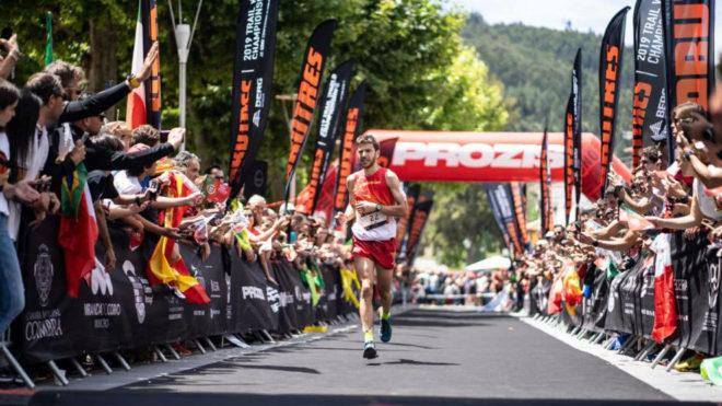 Andreu Simón, en el Mundial de trail running de Miranda do Corvo...